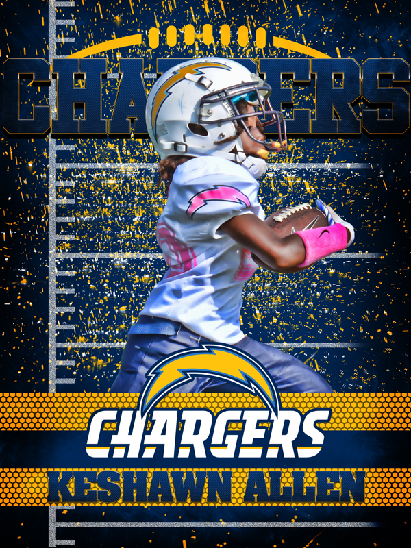 Image of Chargers Personal Poster