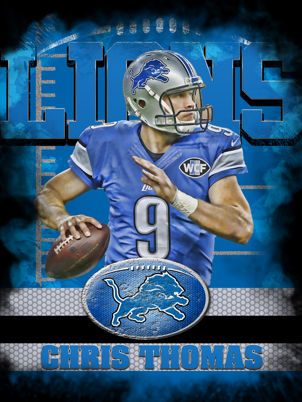 Lions Personal Poster Template