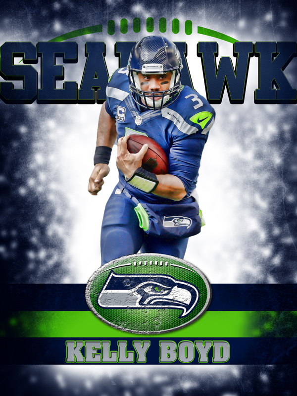 Seahawks Personal Poster Template