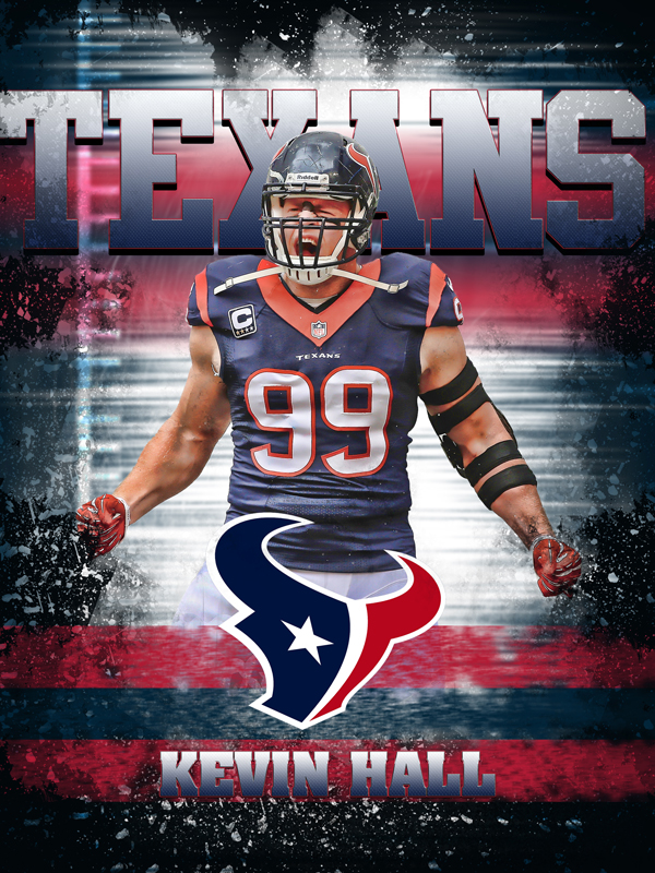 Texans Personal Poster Template